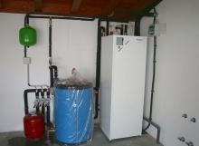 Calefacción y ACS por aerotermia, con instalación de suelo radiante
