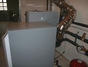 Calefacción por suelo radiante, ACS con caldera de pellets