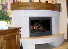 Fogón con paila para ACS y calefacción por suelo radiante