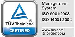 Bordatxuri: empresa certificada por TÜV Rheinland en ISO 9001:2008 e ISO 14001:2004